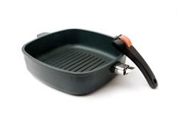 Сковорода-гриль квадратная со съемной ручкой, 26 см. SKK  - фото 6034
