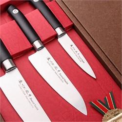 Набор SATAKE Swordsmith из 3х ножей Овощной, Универсал, Шеф в подарочной коробке - фото 6696
