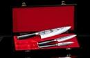 """Набор из 3 кухонных стальных ножей """"Поварская тройка"""" Samura Damascus SD-0220/G-10"""