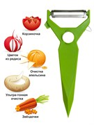 Нож треугольный (овощечистка-декоратор)