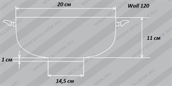 Размеры казана Woll 120 TitanPlus