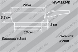 Размеры сковороды Woll 1524D Diamond's Best