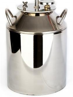 Перегонный куб на 12 литров c широкой горловиной + термометр - фото 5258