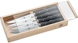Набор стейковых ножей 4 пр. в деревянной коробке - фото 7023