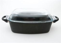 Жаровня со стеклянной крышкой 40х24х13 см. SKK Titan Induction